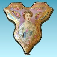 19th C. French Porcelain Patch Box