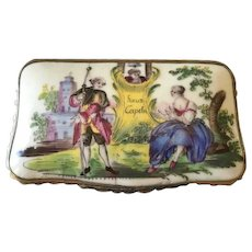 Patch or Snuff Box, 18th C. Enamel on Copper