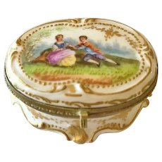 Patch Box in Porcelain, Dresden, Eugene Clauss, CA.1880