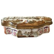 19th C. Patch Box, Porcelain, Frankenthal