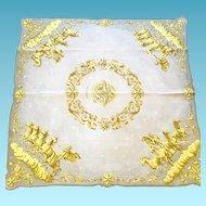 """Vintage Hermes Silk Scarf, """"Cosmos"""""""