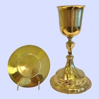 Early 19th C.French Gilt Silver Chalice and Paten, Paris,CA.1840
