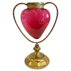 "A Rare 19th C. French ""Sacred Heart"" Devotional Vase, CA.1860"