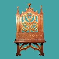 Antique French Neo Gothic Bible or Book Stand, CA.1870