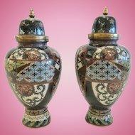 Pair of 19th Century Japanese Cloisonne Vases, CA.1890