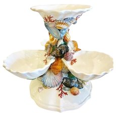 "Vintage Italian ""Sea Life"" Center Piece"