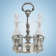 Antique French .950 Silver Huilier (Cruet Stand), CA.1840