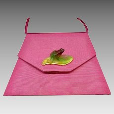 Rare Silk Purse, Daum Pate de Verre Frog, CA.1970's