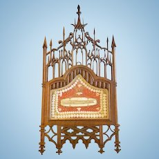 A Rare Gothic Revival Reliquary, French, Dated 1854