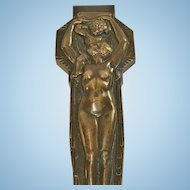 Art Deco French Bronze Page Turner, Lucien Bazor, 1928