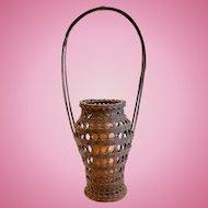 Vintage Japanese Ikebana Basket, Meiji-Taisho Period, CA.1910-1926