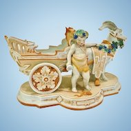 Antique Porcelain, Putti and Goat Cart, KPM Mark, CA.1880