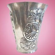 Sterling Silver Art Deco Vase, Peru, Handmade CA.1920-30's