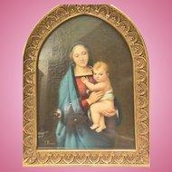 "Painting of ""Madonna Del Granduca"", after Raphael"