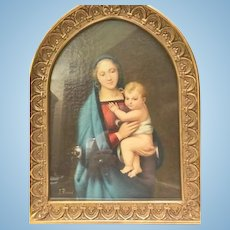 "Painting of ""Madonna Del Granduca"", after Raphael"