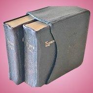 Cased Pair of Miniature Prayer/Hymn Books, CA.1902