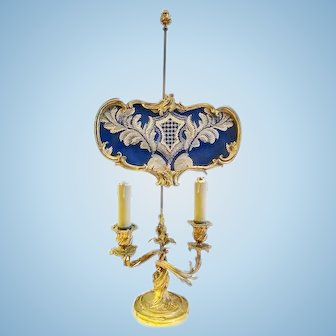 French Bouillotte Lamp, Louis XV Style, 19th Century