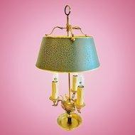 French Empire Style Bouillotte Lamp, Dore Bronze CA.1910-20