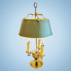 French Empire Style Bouillotte Lamp, Dore Bronze CA.1910-20