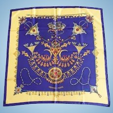 Hermes Silk Scarf, Vintage 1988 Design, Laurence Bourthoumieux