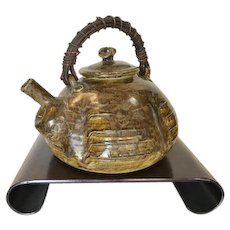 Large Japanese Studio Pottery Tea Pot, 1950-60's