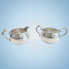 Gorham Sterling Silver Sugar and Creamer Set