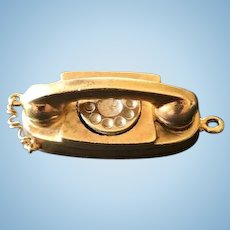 "Solid Gold ""Telephone"" Charm"