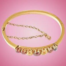 14kt Gem Set Small Ladies or Child's Bracelet, CA.1890