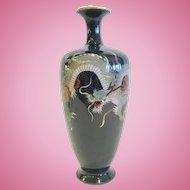 A Fine Japanese Cloisonne Dragon Vase, CA.1900