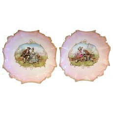 Pair of Limoges Wall Plaques, France CA.1880-1890