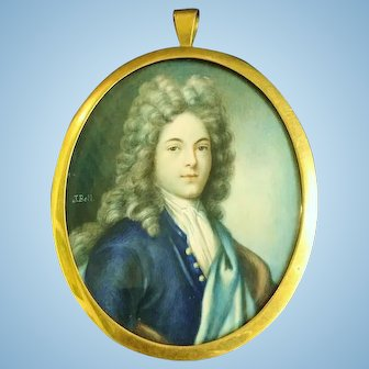 Miniature Portrait of a Young Gentleman, Signed J.Bell, CA.1750-1780
