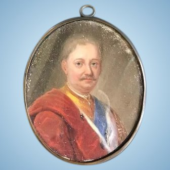 Miniature Portrait of an English Aristocrat, Late 18th C.