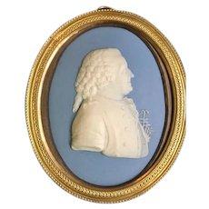 Wedgwood Jasperware Miniature Portrait of Carl Linnaeus, late 18th C.
