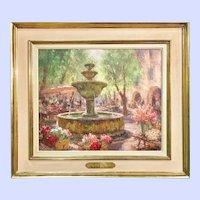 Aix-en-Provence Summer Flower Market, Oil on Canvas, by A.Galzenati