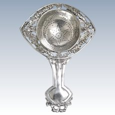 Large Silver Tea Strainer, Neoclassical, Germany, 1890