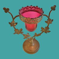 19th C. French Devotional or Sanctuary Lamp