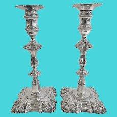 Pair of George II Silver Candlesticks, London 1759-1760