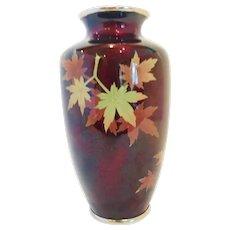 """Japanese Cloisonne Vase,  signed """"SATO"""""""