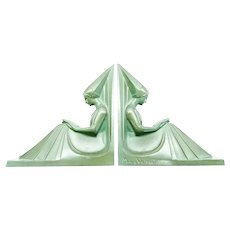 French Art Deco Bookends, Max LeVerrier, CA.1920's