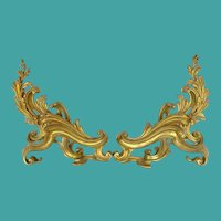 Antique Bronze French Chenets, Louis XV Style, CA1870-1880