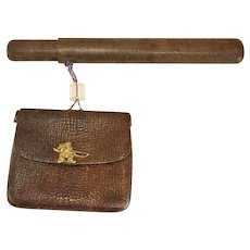 Japanese Pipe Case & Tobacco Pouch CA.1870