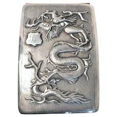 Chinese Silver Dragon Cigarette Case, CA.1900