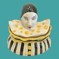 "Rare French ""Pierrot"" Porcelain Box, CA.1915"