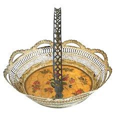 Rare 18th Century French Toleware Basket,