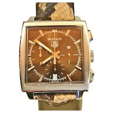 "Tag Heuer ""Monaco"" Chronograph Watch"