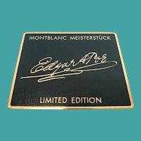 """Mont Blanc """"Edgar A.Poe Fountain Pen"""