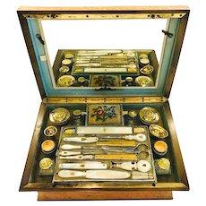 A Rare Palais Royale Sewing & Travel Box, Gold, 1809-1819