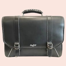 "Vintage Rawlings ""Baseball"" Leather Briefcase"