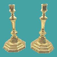 Pair of Period French Bronze Candlesticks, Louis XV-XVI
