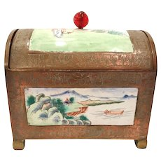 "Antique Chinese ""Canton"" Enamel Box"